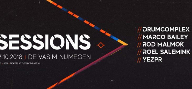 Sessions: Drumcomplex // Marco Bailey // Magistraal Soundsytem // ROD Malmok // Roel Salemink // YEZPR